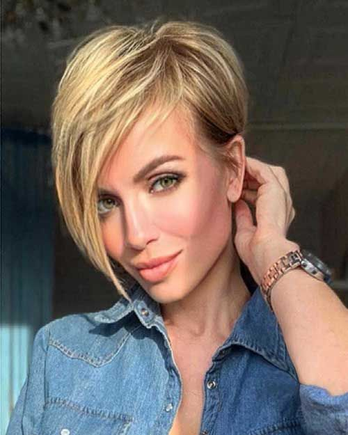 Short Haircut For Square Face Makes Face More Soft And